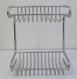 Metlex Mercury 2 Tier Wire Shower Chrome Basket - 01016120